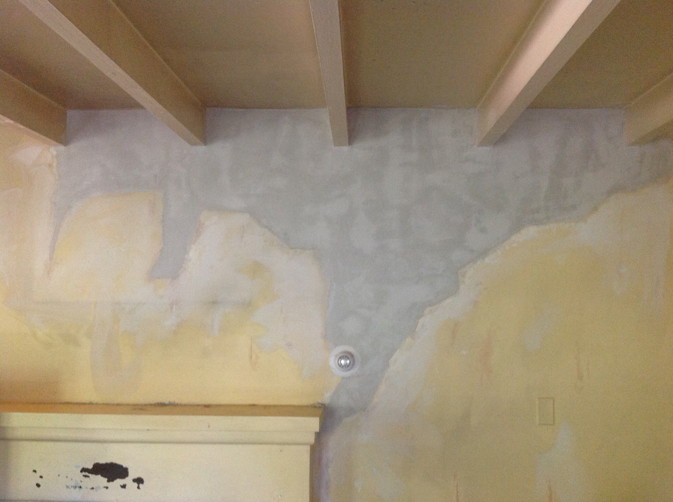 whole back plaster screw ceiling watch render or re repair loose